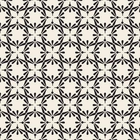 seamless monochrome classic flower pattern background Stock Illustratie