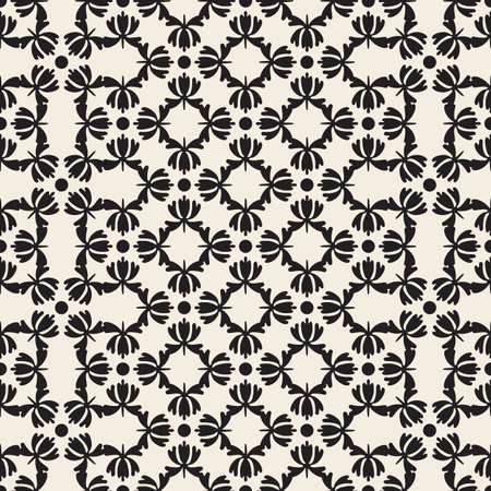 seamless classic style pattern background from flower shape