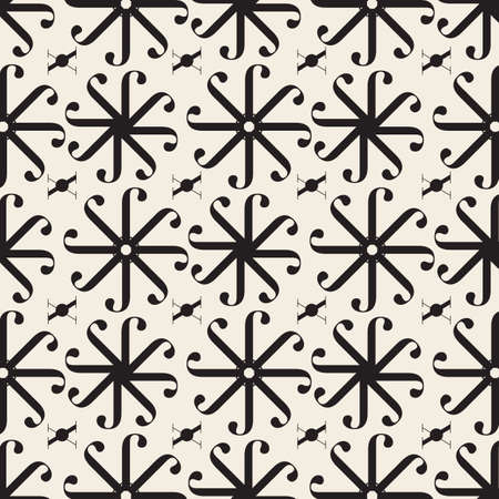 seamless abstract flower pattern background from geometric shape Stock Illustratie