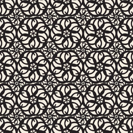 seamless abstract flower pattern background from geometric link