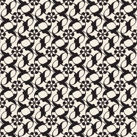 seamless flower pattern background from link circle shape