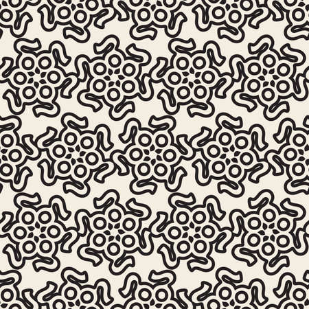 abstract flower pattern background for facade design Stock Illustratie