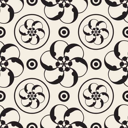 seamless abstract flower pattern background from circle shape