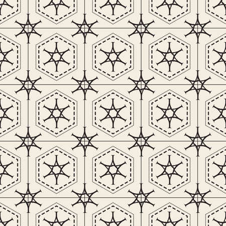 seamless abstract star pattern background from geometric shape