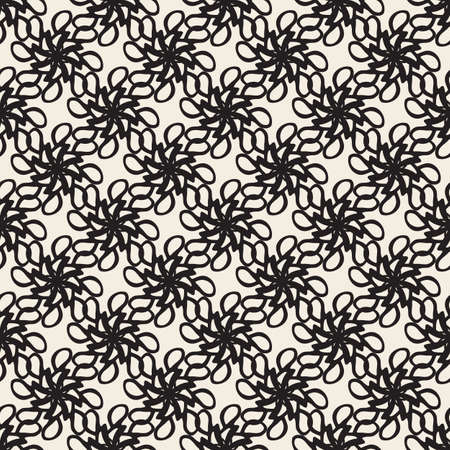 seamless abstract flower pattern background from hand draw line