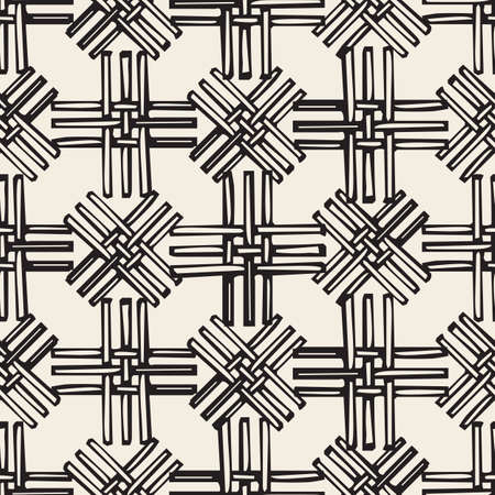 seamless monochrome basketry pattern background Stock Illustratie