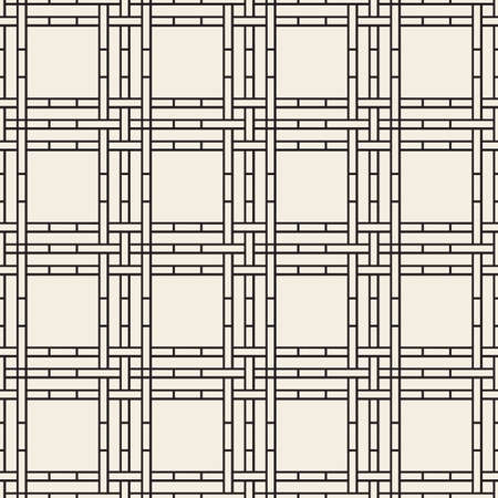 seamless monochrome basketry pattern background from line