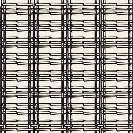 seamless abstract weave pattern background from thread line Stock Illustratie