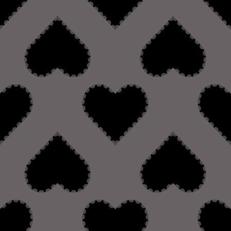 seamless valentine pattern background with black heart stamp