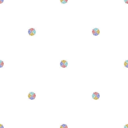 seamless simple geometric pattern background with pastel glitter polka dot