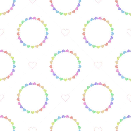 seamless valentine day pattern background with hand draw pink heart Stock Illustratie