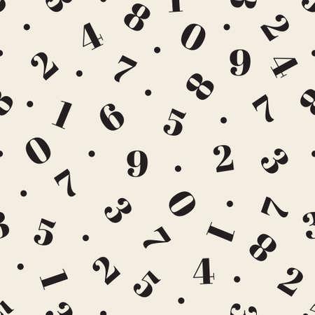 seamless doodle monochrome mathematical number alphabet pattern background Stock Illustratie