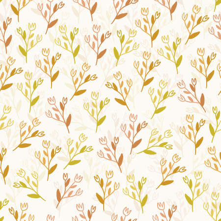 seamless fabic pattern background with multicolour flower Stock Illustratie