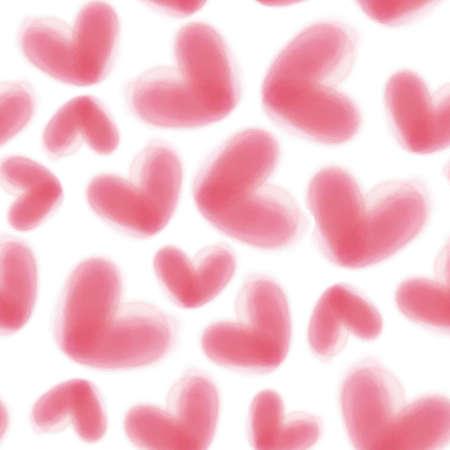 seamless valentine day pattern background with pink mild heart
