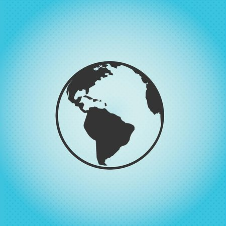 A worldmap with why blue background vector Illustration