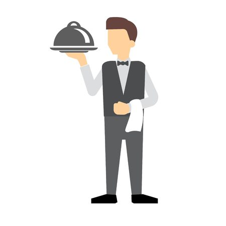 reserved: best served man vector with white background Illustration