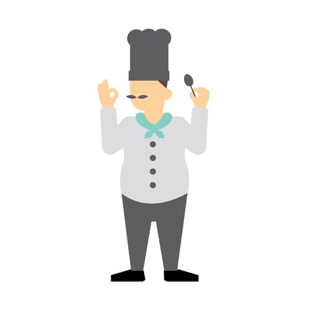 main dishes: cook vector Illustration