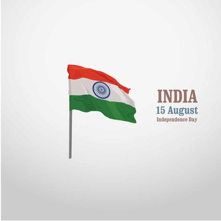 INDIA FLAG 15th augest independence day vector Illustration
