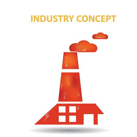 Industry concept vector white background Illustration
