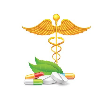 Medical with Medical symbol vector white vector