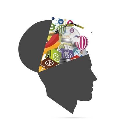 social media open mind vector