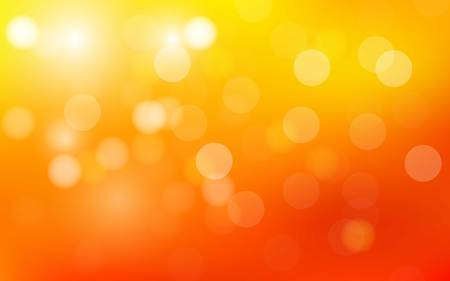 orange and yellow bubbles background vector