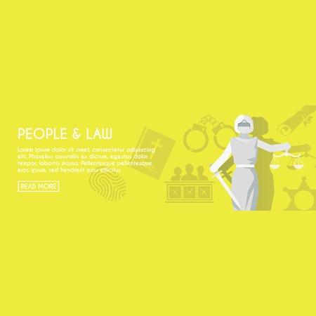 jail: people and law vector with sample text Illustration