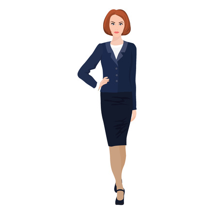 professional business woman vector with white background