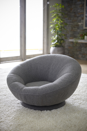 Gray Tweed Groovy Swivel Chair, Charcoal Stock fotó