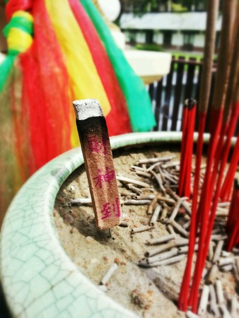 Burning incense in Thailand  Stock Photo