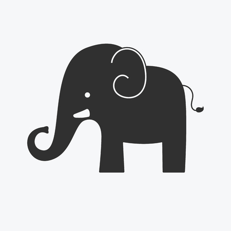 Elephant icon - Vector Illustration