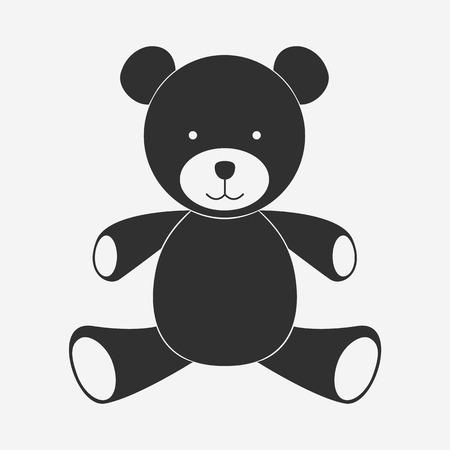 icono del oso de peluche - Vector