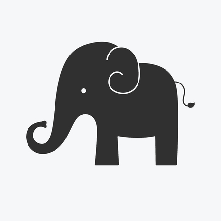 Elephant icon - Vector Stock Illustratie