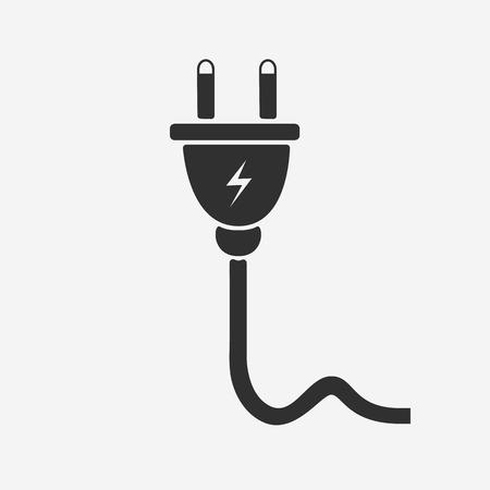 Plug icon - Vector Illustration
