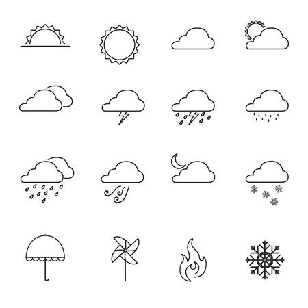 forecast: Weather forecast icon set - Vector