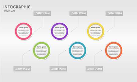 Infographic design template with 6 option