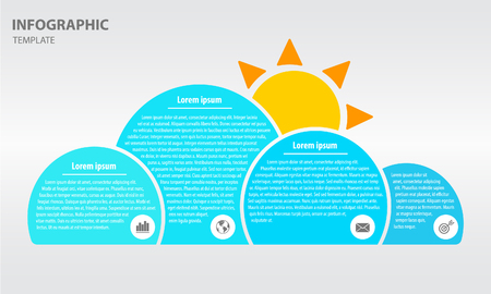Infographic cloud design template with four option Illustration
