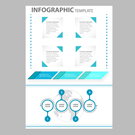 Infographic elements on paper template
