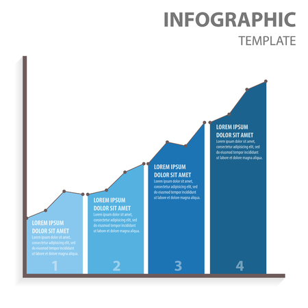 dashboard: Graph four step for infographic Illustration