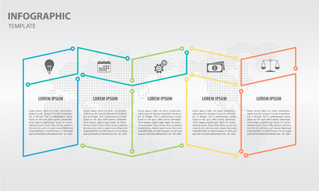 Timeline infographic design template with 5 options