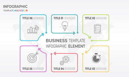 Infographic thin line design options with gear, charts and bulb.