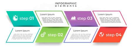 Infographic template 4 step, Arrow design.
