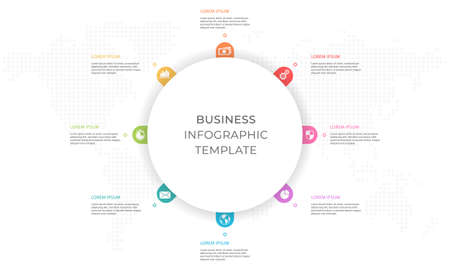 Presentation infographic template 8 options.