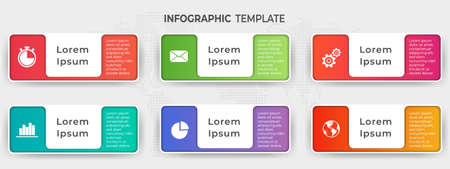 Infographic elements template 6 options.