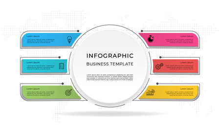 Presentation infographic template 6 options.