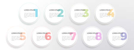 Timeline infographic template 4 circles optionn, Modern style.