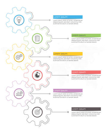 Infographic template diagram 5 options.