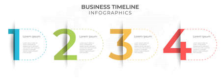 Timeline infographic template 4 options.