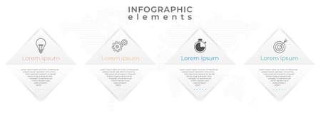 Infographic timeline 4 options. Minimal design.