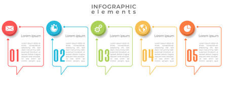Timeline infographic  template 5 options or steps.